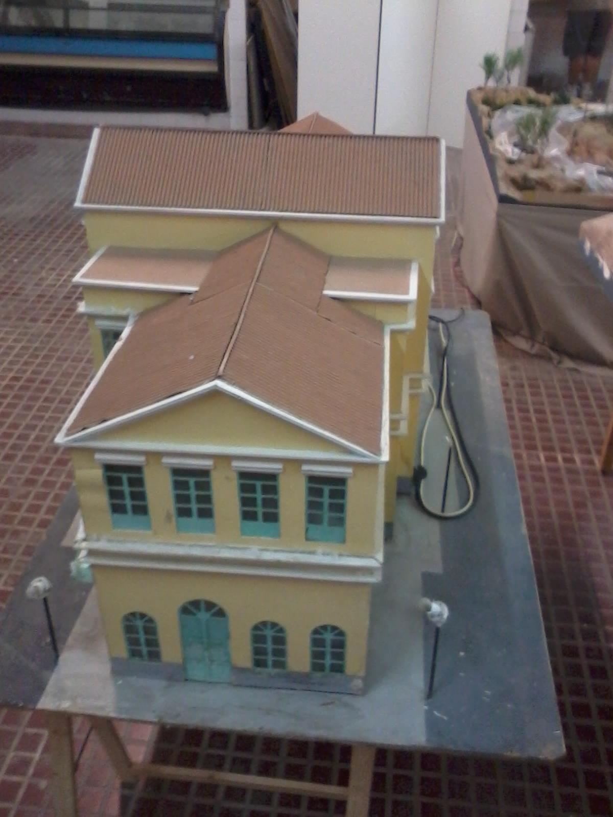 Modelo a escala de la estación de València-Pont de Fusta realizado por D. Mario Albiñana Andrés