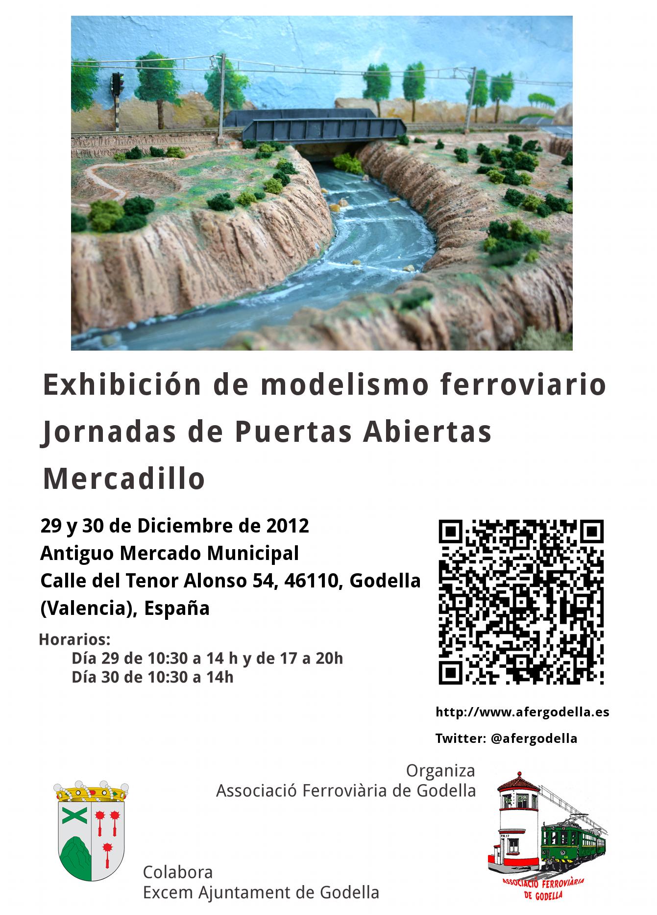 Associació Ferroviària de Godella  - Exhibición y Mercadillo de Modelismo Ferroviario diciembre de 2012