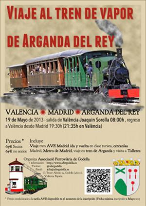 Viaje al tren de Vapor de Arganda del Rey