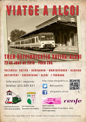 Viaje tren especial reivindicativo a Alcoi 29 Junio