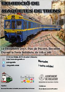 Exhibición de maquetas ferroviarias 14 de Diciembre de 2013 en Rocafort