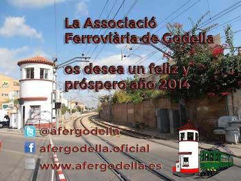 La Associació Ferroviària de Godella os desea un feliz año nuevo