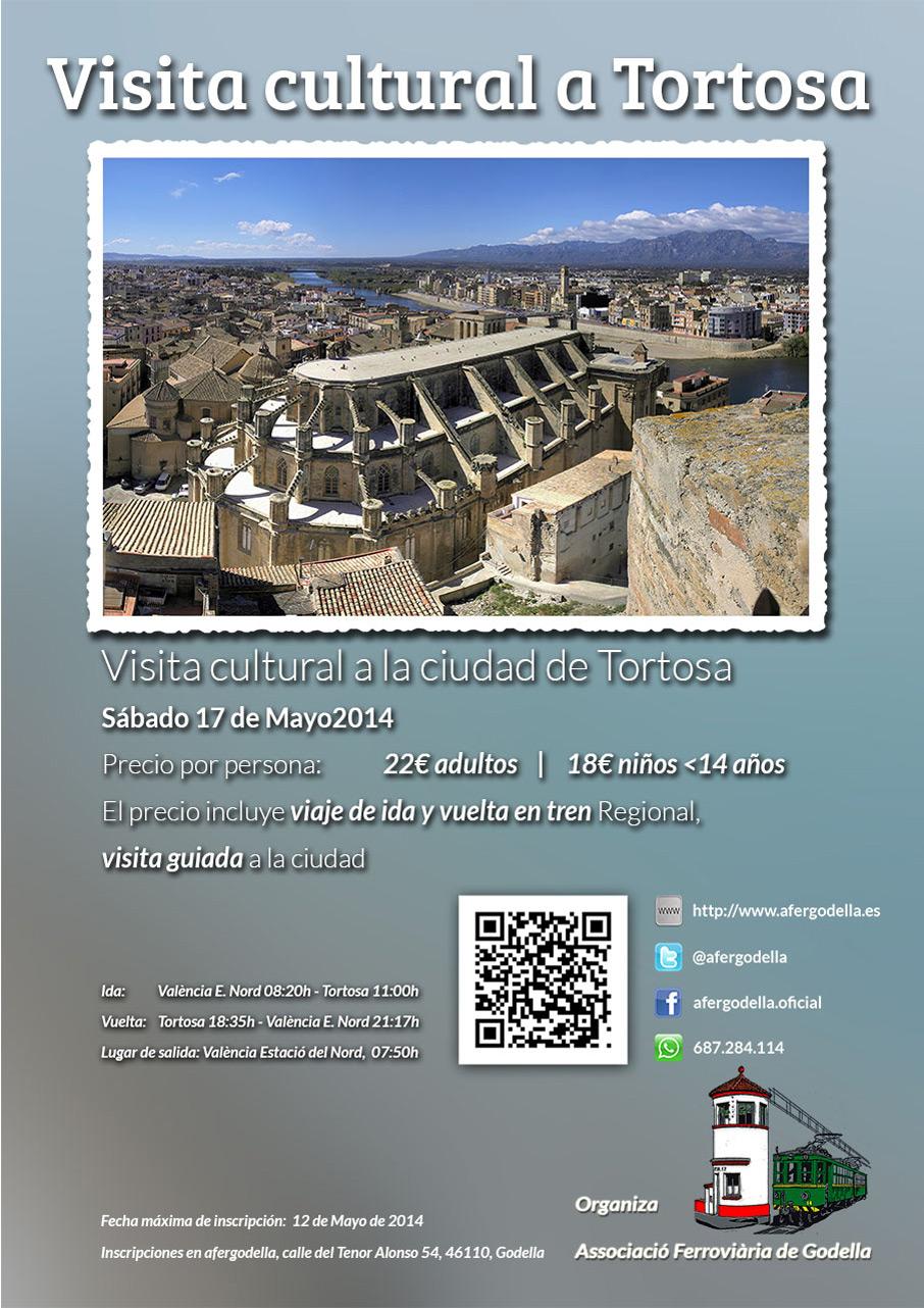 [APLAZADO A NUEVA FECHA] – Viaje Cultural en tren a la ciudad de Tortosa