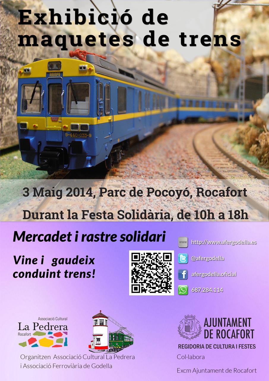 Exhibición de maquetas ferroviarias – mercadillo solidario