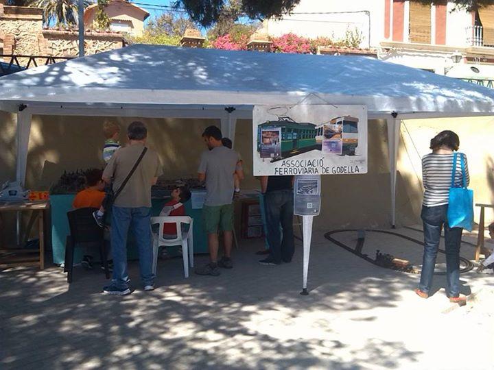 Exhibición de Modelismo Ferroviario en el Mercadillo solidario de Rocafort - La Pedrera