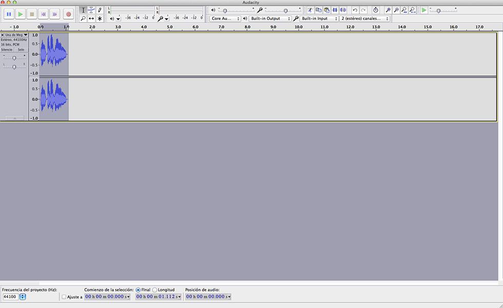 Edición de audio con Audacity II