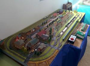 Nuestra maqueta de Escala N durante la Exposición