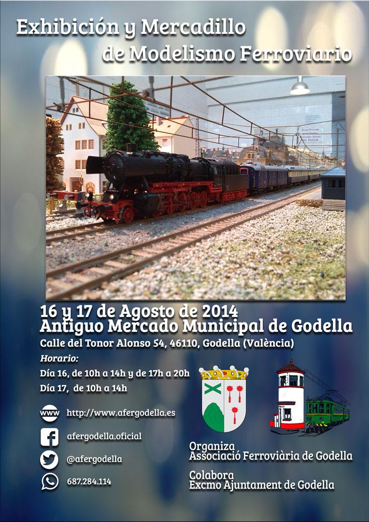 Exhibición y Mercadillo de Modelismo Ferroviario durante las fiestas de Godella