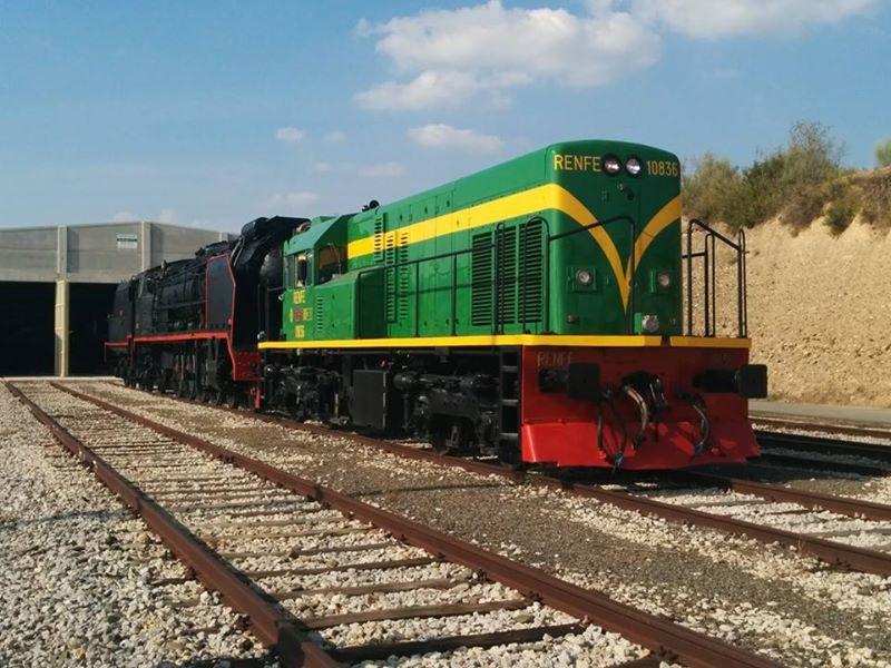 Locomotora Diesel Serie 308 de Renfe restaurada