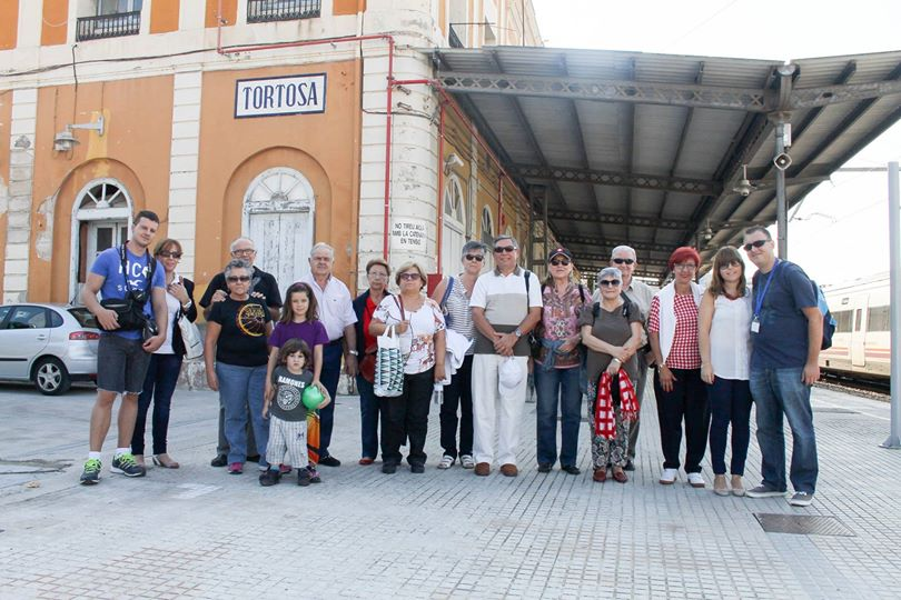 Visitantes a su llegada a Tortosa