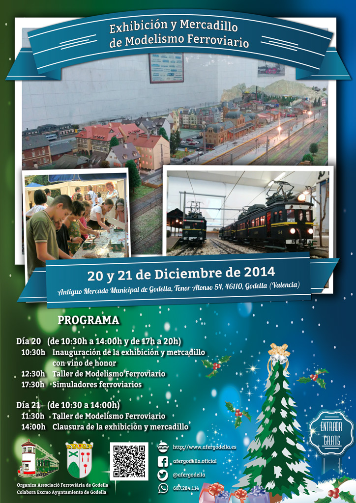 Exhibición, Talleres y Mercadillo de Modelismo Ferroviario diciembre 2014