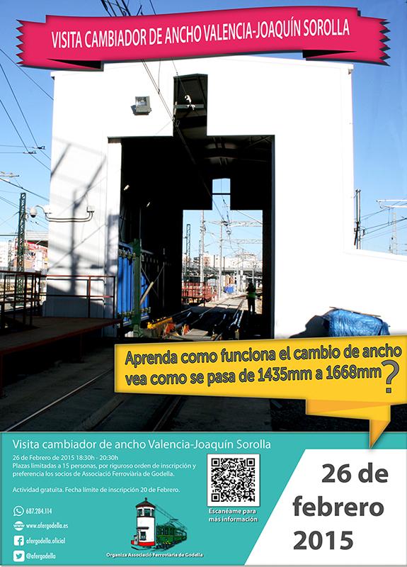 Visita al cambiador de Ancho de Valencia-Joaquín Sorolla – 26 de Febrero
