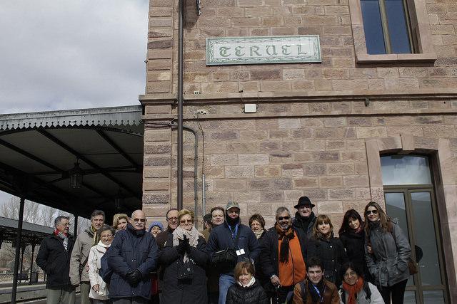 Foto de grupo en la estación de Teruel
