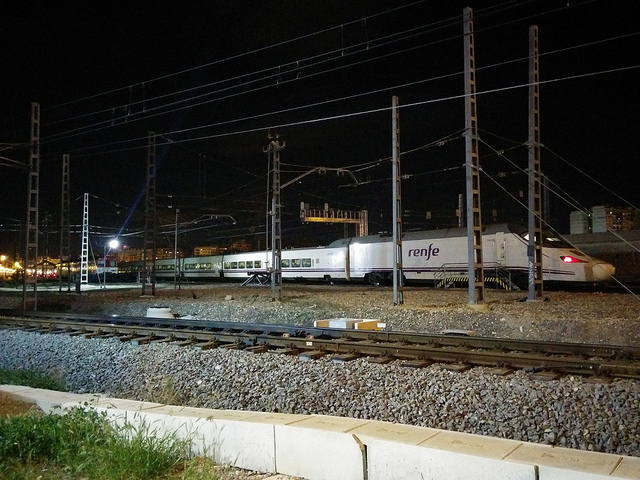 Tren Euromed/Alvia Talgo -  S130 como el que pudimos ver al paso por el cambiador de ancho