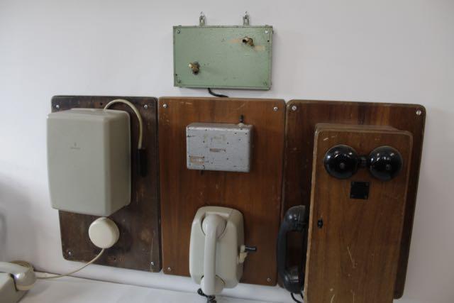Antigua centralita telefónica y puesto de circulación de Bloqueo Telefónico de la estación de Teruel, restaurado por ATAF