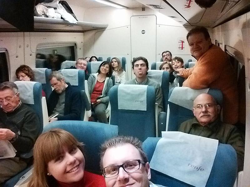 selfie en el MD S599, mientras bajábamos de Teruel