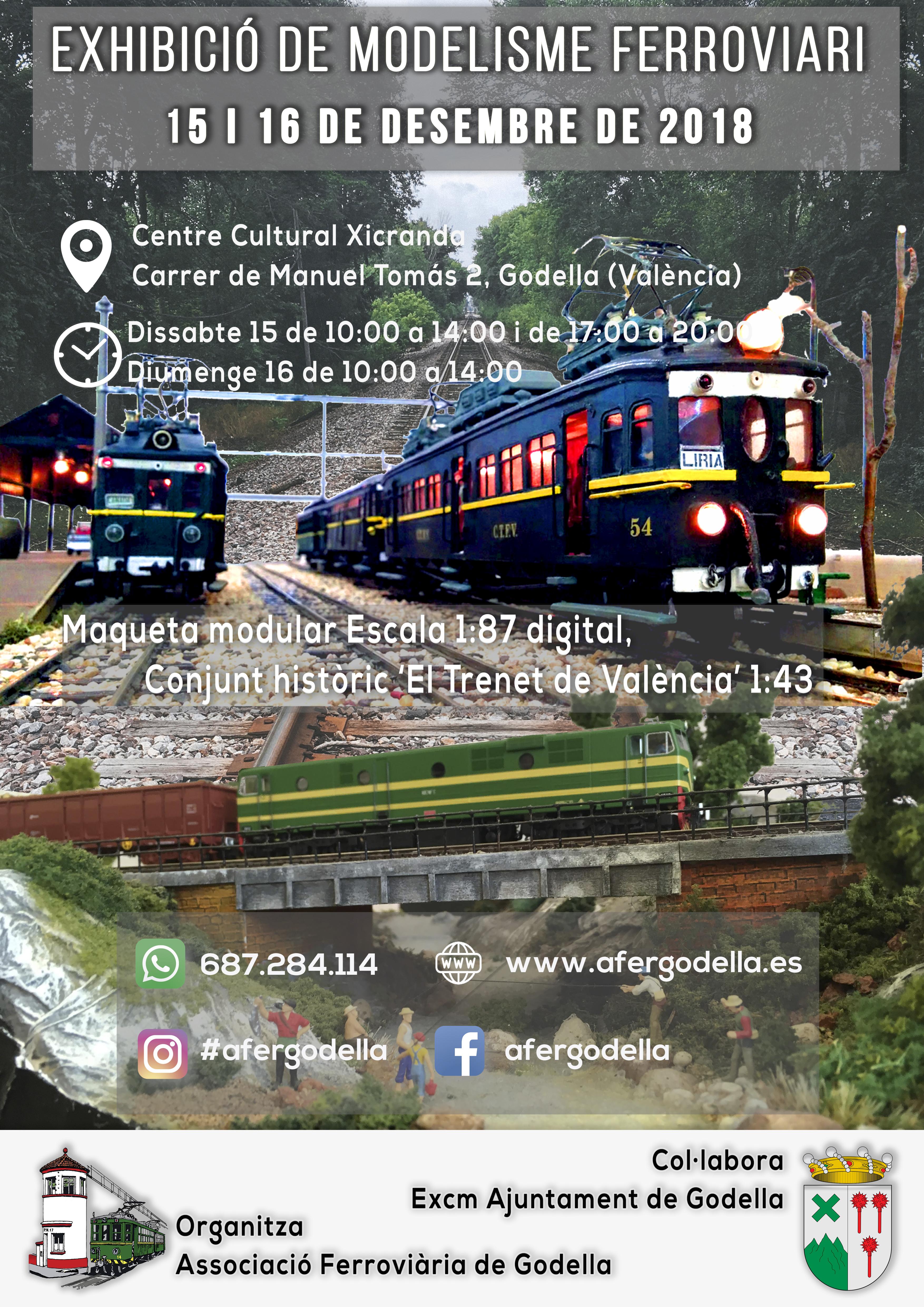 Exhibición de Modelismo Ferroviario 15 y 16 de Diciembre de 2018