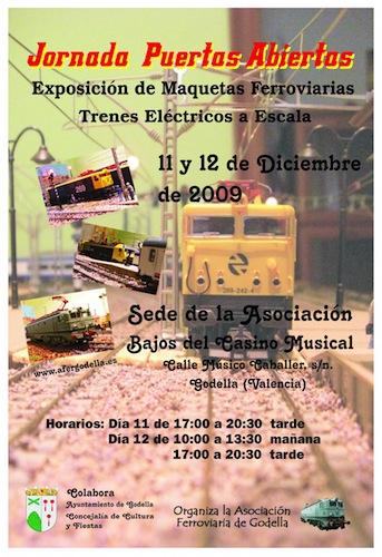 Jornadas de Puertas abiertas y Modelismo Ferroviario Diciembre 2009