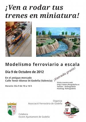 El 9 d'Octubre ¡Ven a rodar tus trenes en miniatura!