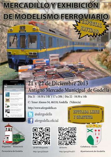 Exhibición y Mercadillo Ferroviario Diciembre de 2013