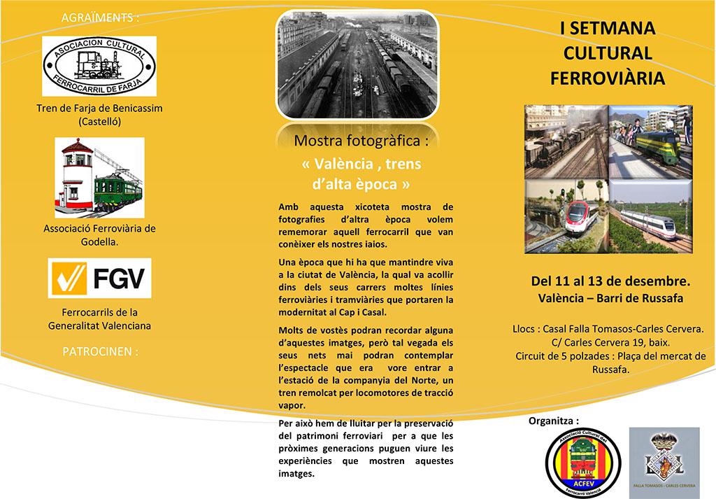 I Setmana Cultural Ferroviària – Falla Tomasos-Carles Cervera