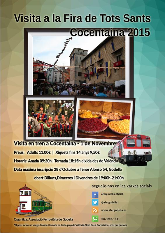 Visita en tren a la Fira de Tots Sants de Cocentaina 2015